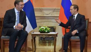 Dmitrij Miedwiediew i Aleksander Vucic