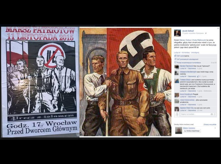 Pisarz Jacek Dehnel skomentował na Facebooku dziwną zbieżność obu plakatów: \