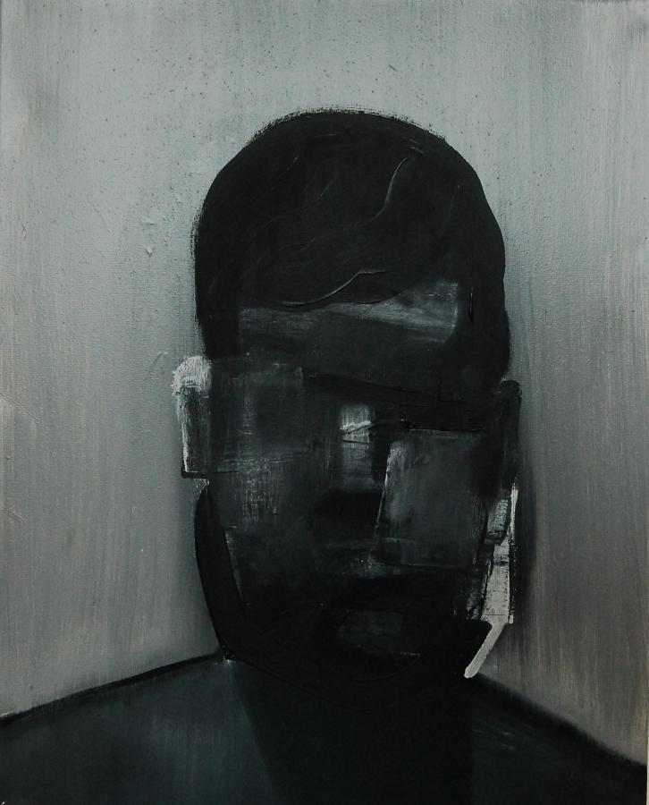 """""""Szkice do portretu 33"""", Cezary Bednarczyk, olej na płótnie, 50x40 cm"""