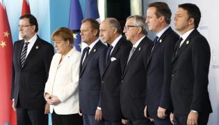 Mariano Rajoy Brey, Angela Merkel, Donald Tusk, Laurent Fabius, Jean-Claude Juncker, David Cameron, Matteo Renzi