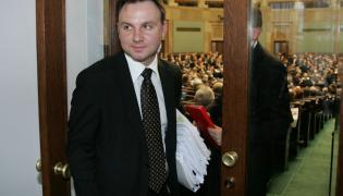 Andrzej Duda w 2008 roku w Sejmie, jeszcze jako minister z Kancelarii Prezydenckiej Lecha Kaczyńskiego