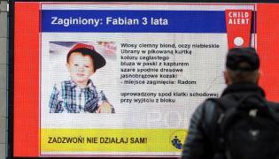 Informacja z systemu Child Alert o zaginięciu 3-letniego Fabiana