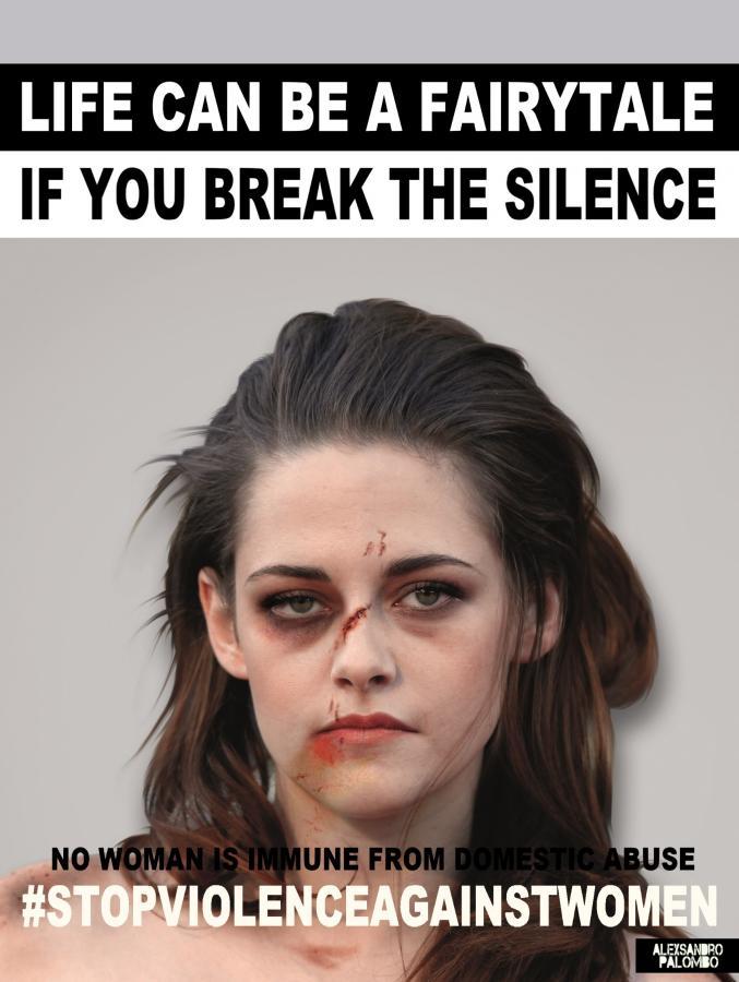 Kirsten Stweart w kampanii #stopvilenceagainstwomen