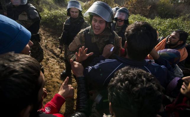 Zamieszki na granicy grecko - macedońskiej