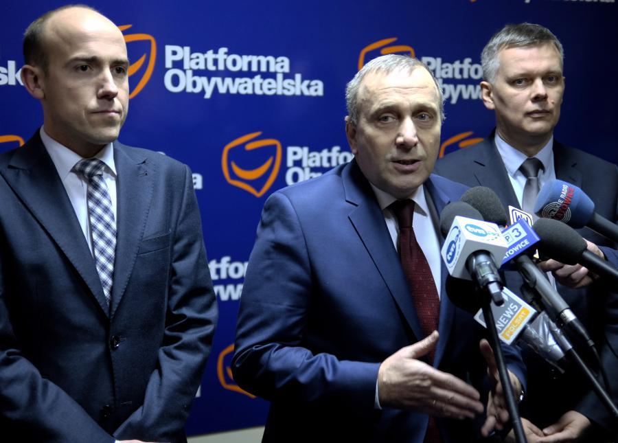 Grzegorz Schetyna, Borys Budka i Tomasz Siemoniak