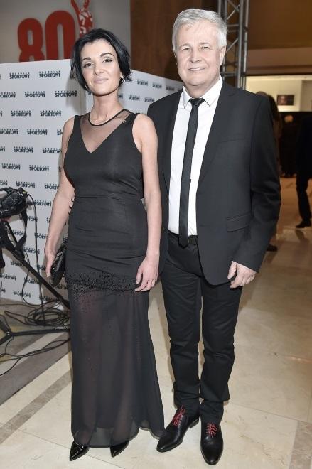 Pamela Izabela Podolec i Apoloniusz Tajner na Balu Mistrzów Sportu w styczniu 2015 r.