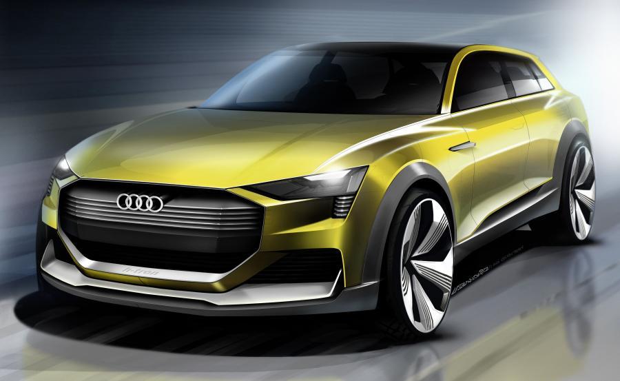 Audi h-tron quattro concept naszkicowane przez Kamila Łabanowicza