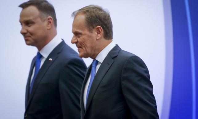Tusk po spotkaniu z Dudą: Nie będzie debaty o Polsce w Radzie UE