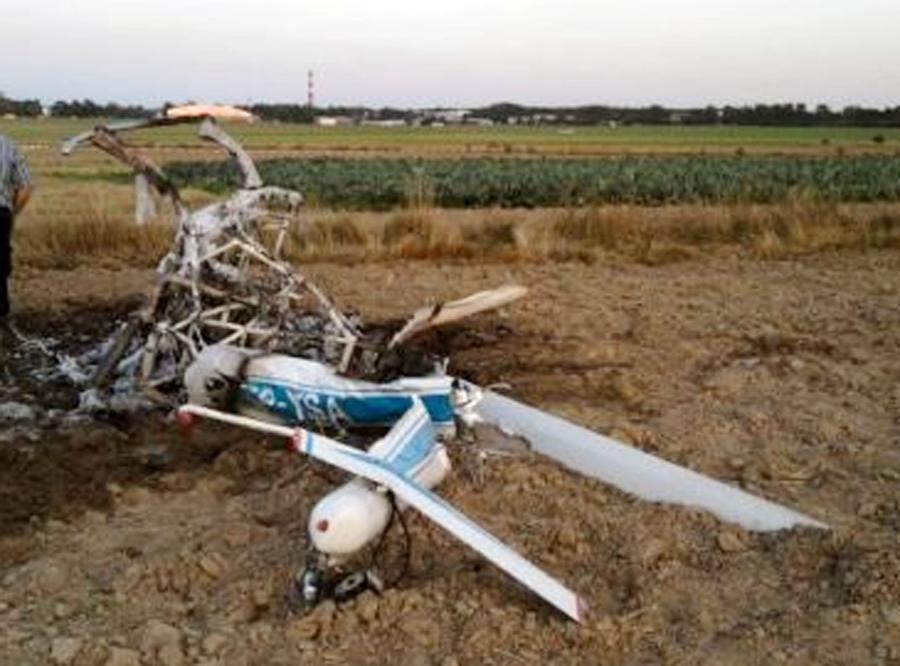 Pilot przeżyl, bo wyskoczył ze śmigłowca