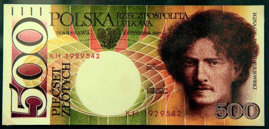 Banknoty polskie. Banknoty polskie. Projektant i grafik ANDRZEJ HEIDRICH, grafik i malarz ANDRZEJ HEIDRICH