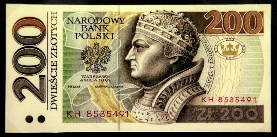 Banknoty polskie. Projektant i grafik ANDRZEJ HEIDRICH