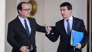 Prezydent Francois Hollande i premier Manuel Valls
