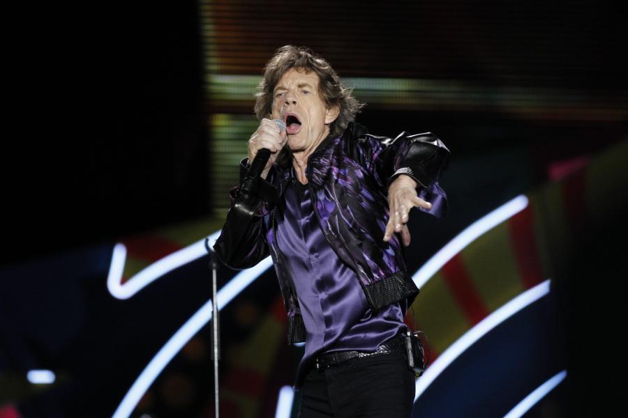 Mick Jagger podczas koncertu na stadionie Centenario