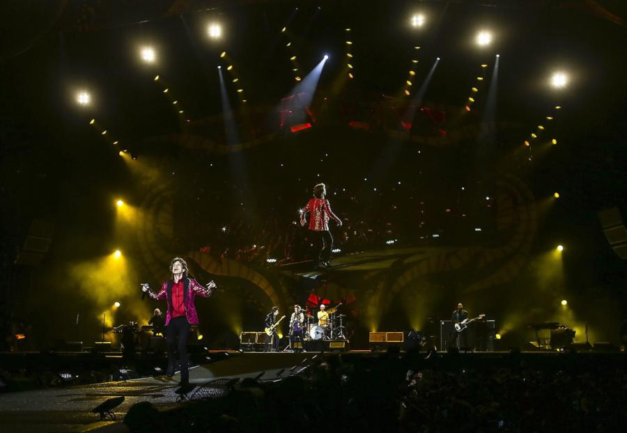 The Rolling Stones podczas koncrtu w Rio de Janeiro