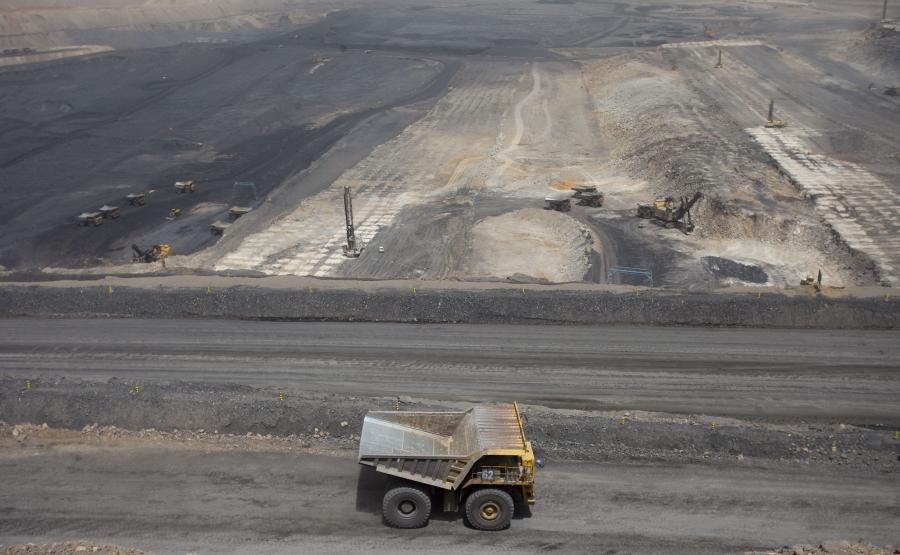 Kopalnia węgla w Chinach