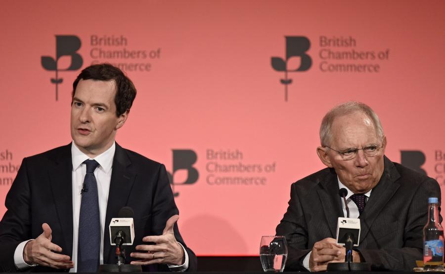 George Osborne i Wolfgang Schauble