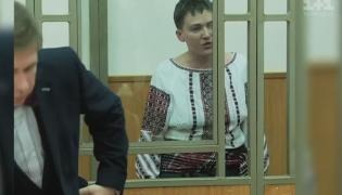Nadia Sawczenko podczas rozprawy