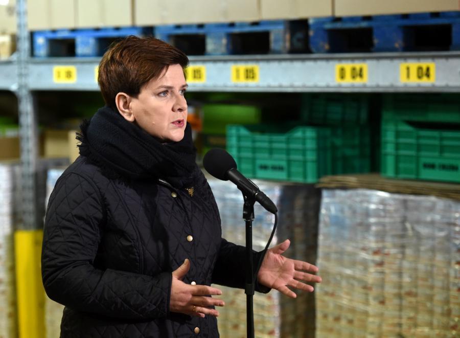 Beata Szydło na konferencji prasowej