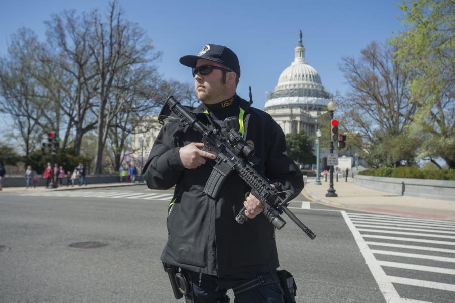 Policja na Kapitolu, Waszyngton, USA