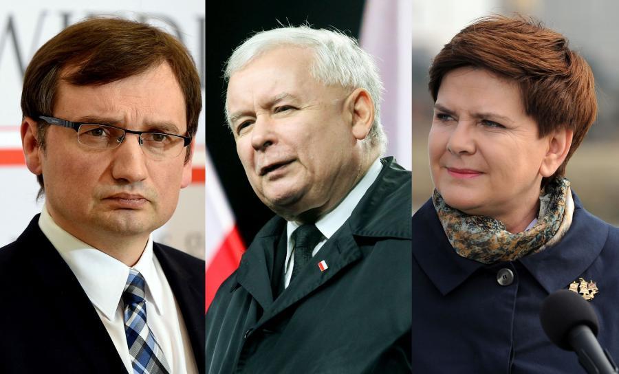 Zbigniew Ziobro, Jarosław Kaczyński i Beata Szydło