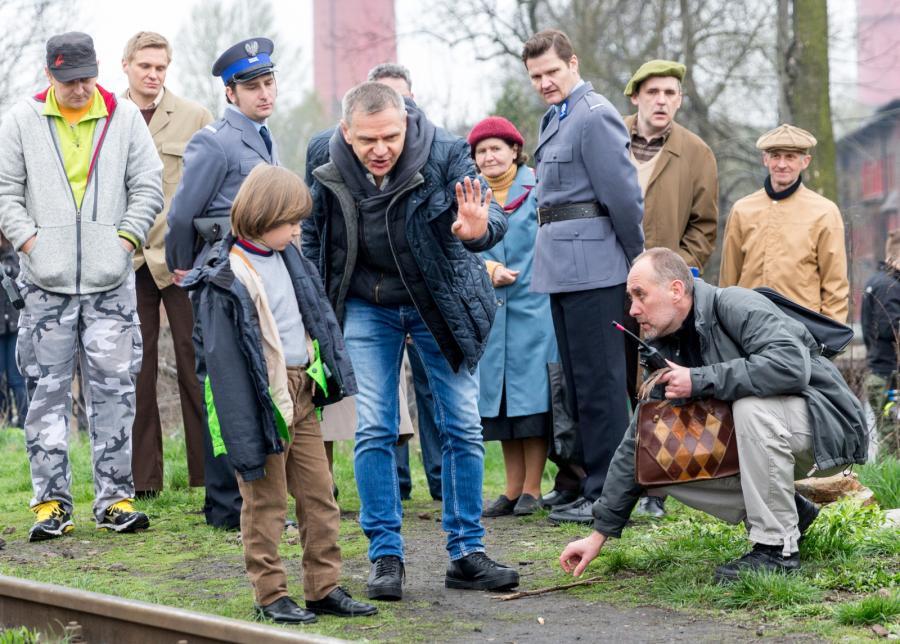 """Maciej Pieprzyca na planie filmu """"Jestem mordercą"""""""