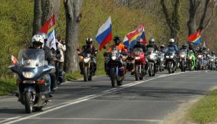 Rosyjscy motocykliści w Braniewie