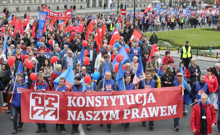 Demonstracja z okazji Święta Pracy