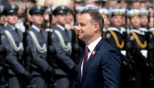 Prezydent Andrzej Duda podczas centralnych obchodów Święta Narodowego 3 Maja