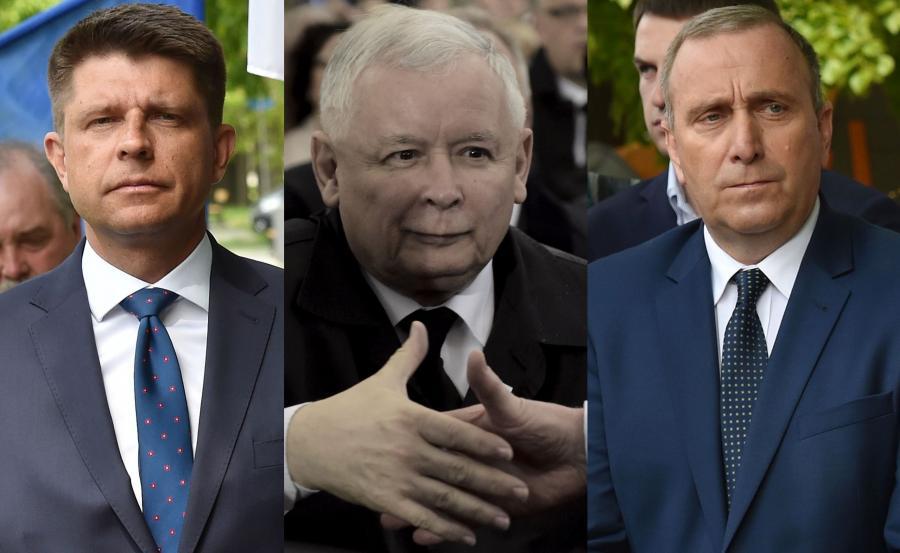 Ryszard Petru, Jarosław Kaczyński i Grzegorz Schetyna