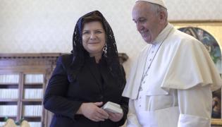 Beata Szydło i papież Franciszek