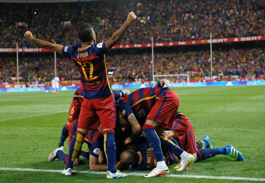Radość piłkarzy Barcelony