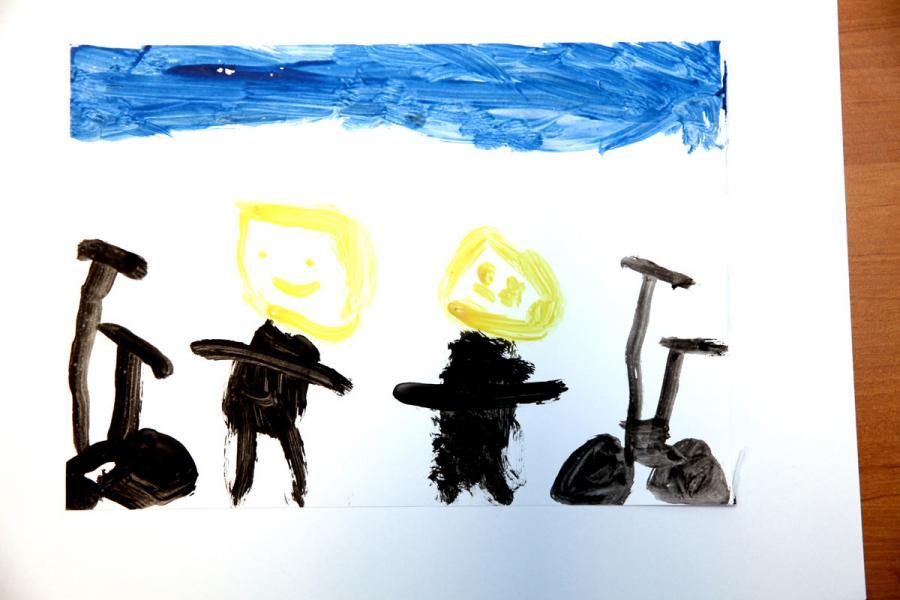 Autor rysunku: Albert Lewicki, lat 6