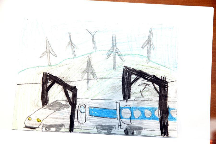 Autor rysunku: Gutek Szymaniak, lat 7