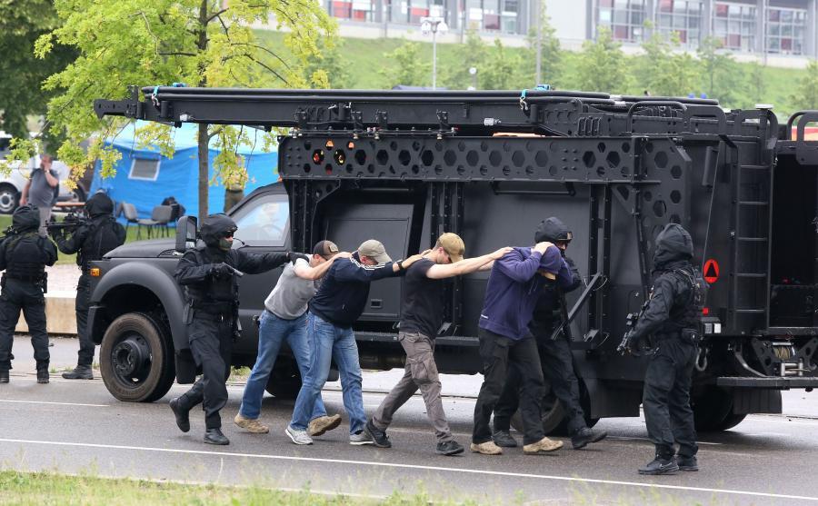 Pozorowany atak terrorystyczny i reakcja w sytuacji zagrożenia. Służby ćwiczą przed szczytem NATO i Światowymi Dniami Młodzieży