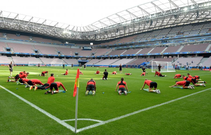 Trening reprezentacji olski na stadionie w Nicei