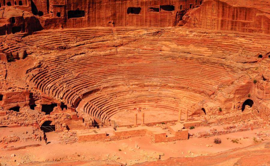 Amfiteatr w Petrze, w Jordanii