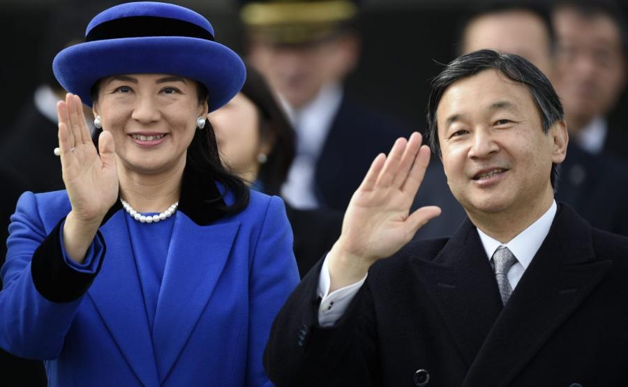 Książę Naruhito i księżniczka Masako