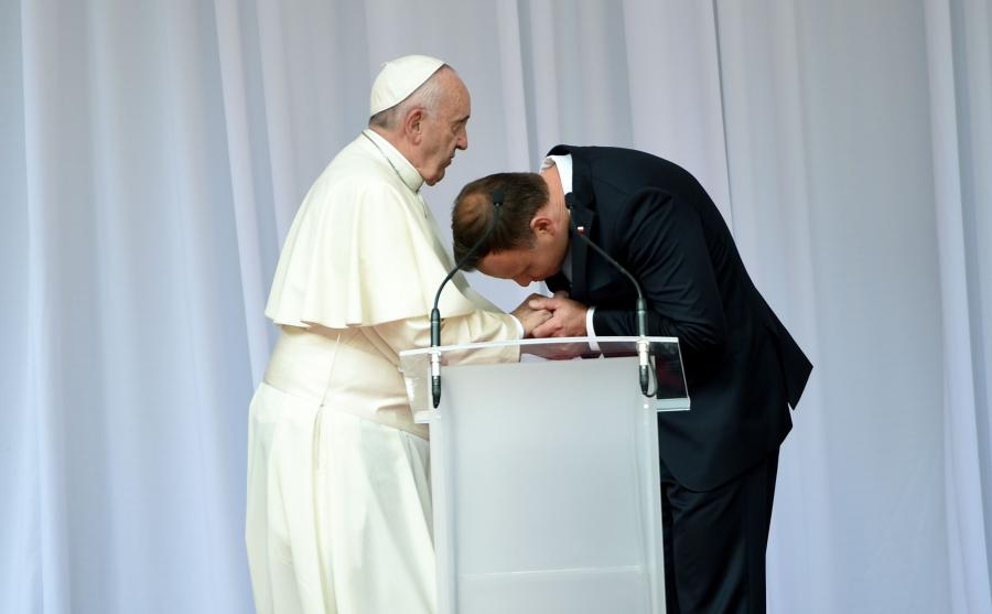 Papież Franciszek i prezydent Andrzej Duda