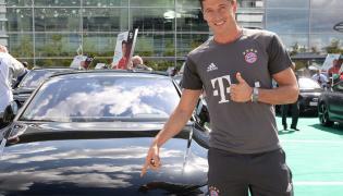 Robert Lewandowski dostał nowy samochód