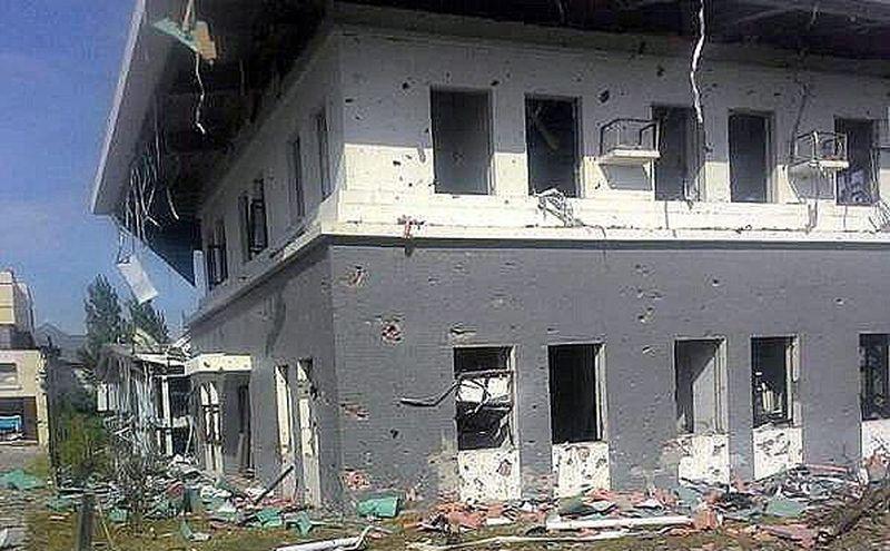 Uszkodzony bdynek chińskiej ambasady w Kirgistanie