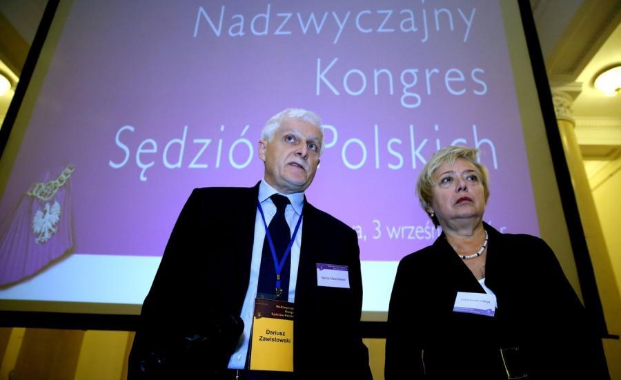 Przewodniczący KRS Dariusz Zawistowski i pierwsza prezes SN Małgorzata Gersdorf