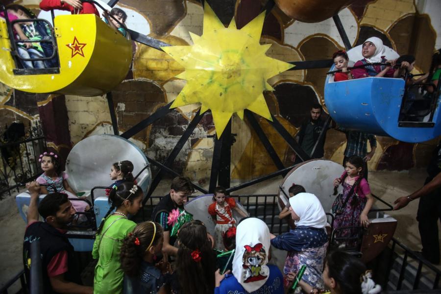 Park rozrywki w Erbeen we wschodniej Gucie, na przedmieściach Damaszku