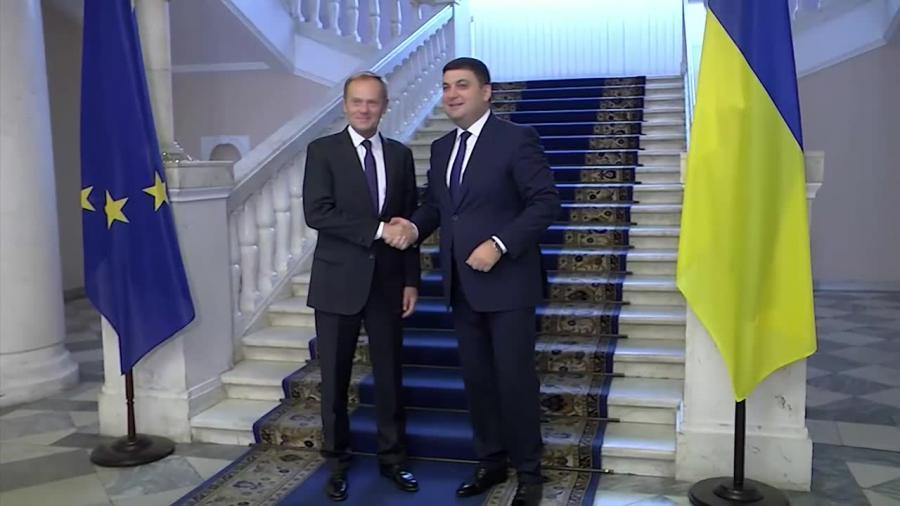 Tusk z wizytą na Ukrainie