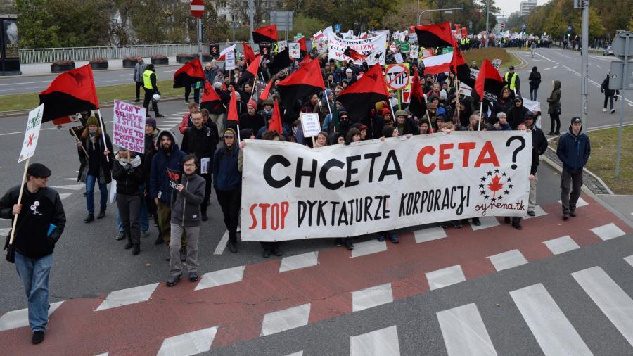 Protest przeciwko CETA i TTIP
