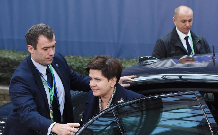 Premier Beata Szydło na szczycie unijnym w Brukseli