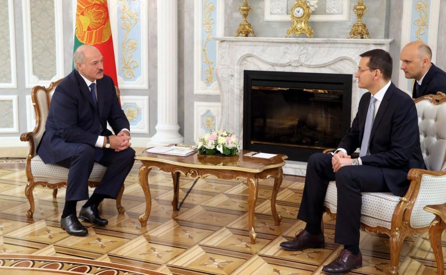 Aleksander Łukaszenka i Mateusz Morawiecki