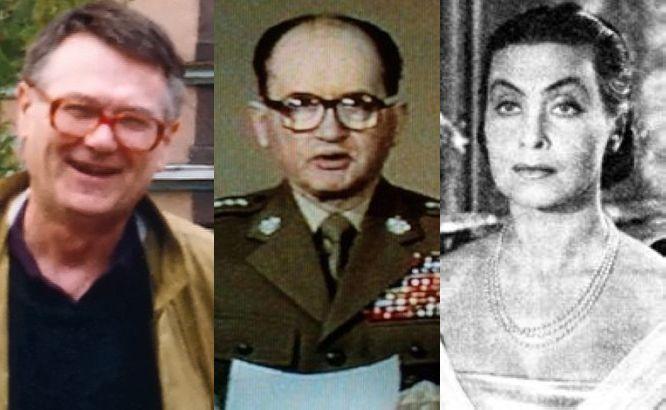 Zdzisław Beksiński, Wojciech Jaruzelski, Nina Andrycz