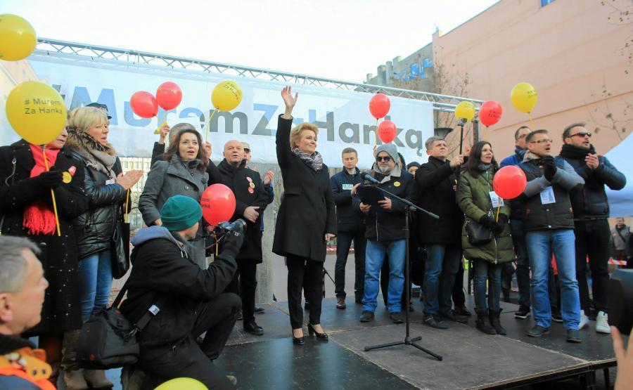 Marsz poparcia dla prezydent Łodzi