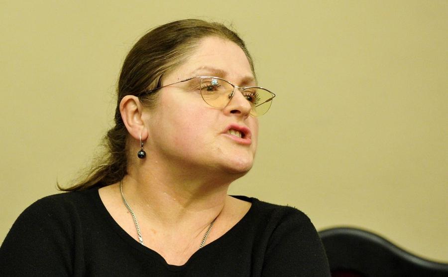 Posłanka PiS Krystyna Pawłowicz podczas posiedzenia sejmowej komisji sprawiedliwości i praw człowieka