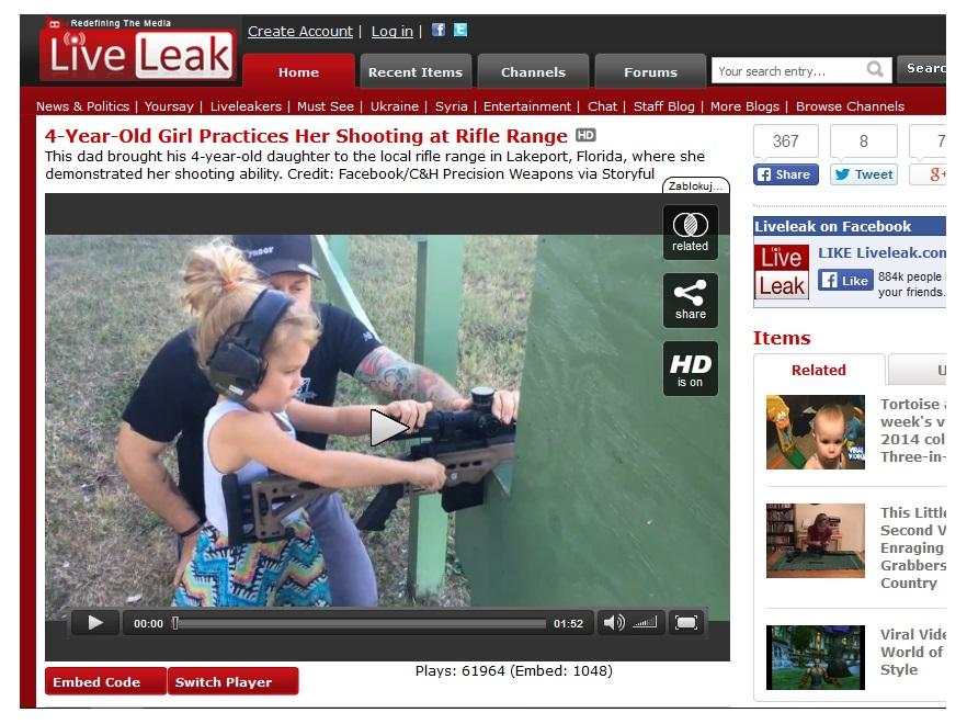 4-latka na strzelnicy